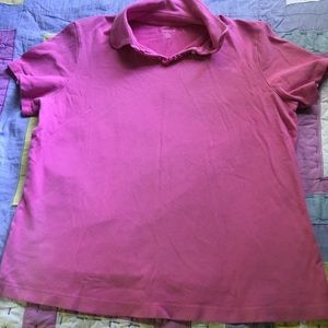 LANDS END PINK POLO SIZE L